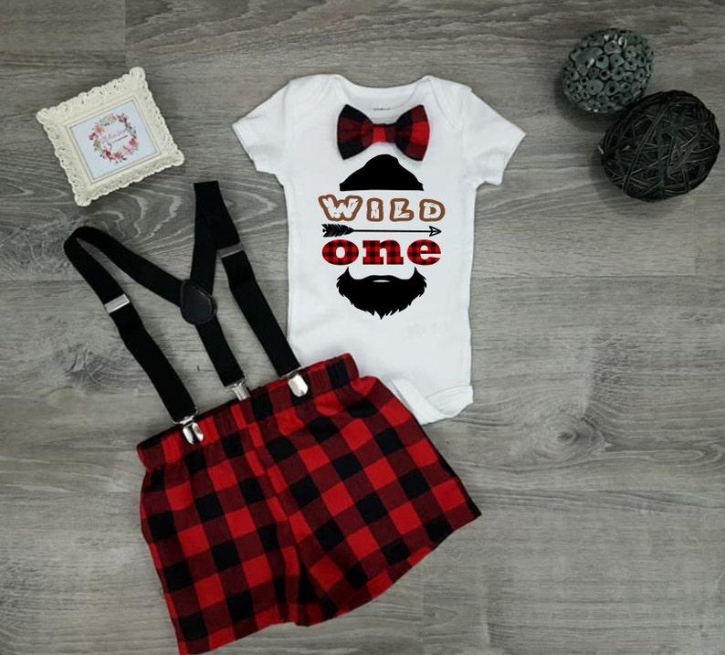 fe2baaab2 Wild One Birthday boy 1st Birthday Boy Outfit Lumberjack | Etsy
