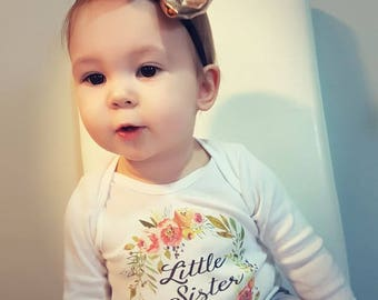 Little sister outfit, Baby Girl Coming Home Outfit, Little Sister Shirt, Baby girl, Newborn Girl, Going Home Outfit, Little Sister