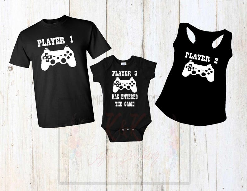 Player Family Shirts Player 1 Player 2 Player 3 Custom  a4eb5d400844