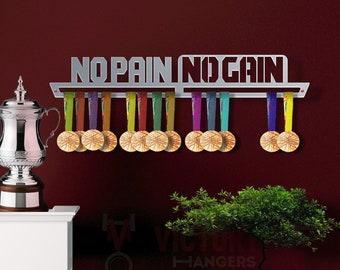 d23471df35 No Pain No Gain Medal Hanger Display