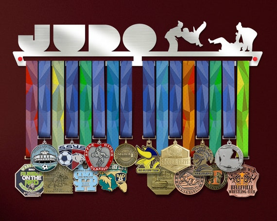 Stainless Steel Medal Display Sports Medal Hangers The Best Gift for Champions ! Judo Medal Hanger Display by VictoryHangers