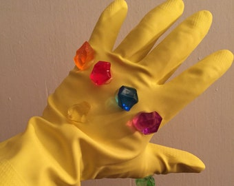 Infinity Gauntlet 1:1 Replica Avengers Infinity War Guardians o/t Galaxy Thanos Cosplay Gems Stones Glove Left Hand Wearable Movie Endgame