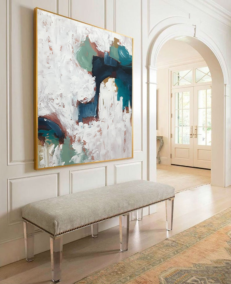 Abstract Acrylic Painting On Canvas Gold Abstract Painting Extra Large Wall Art Abstract Large Modern Art Original Artwork Painting