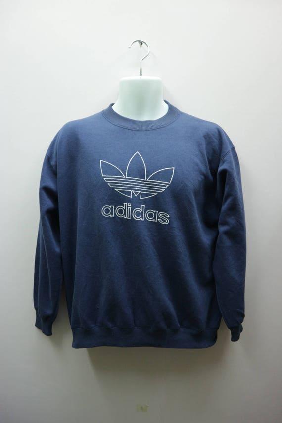 Felpe Vintage Adidas Felpa Logo grande Streetwear Sportswear