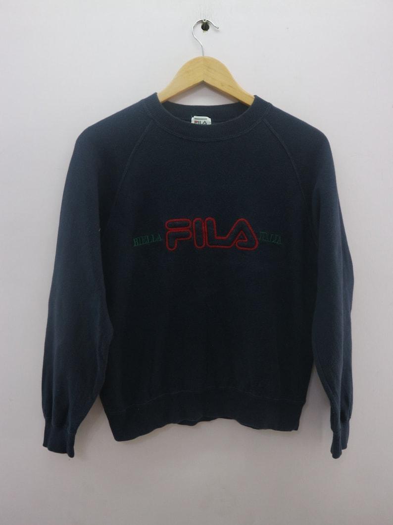 b24c44c41df Vintage Fila Sweatshirt Embroidered Big Spell Out Sportswear