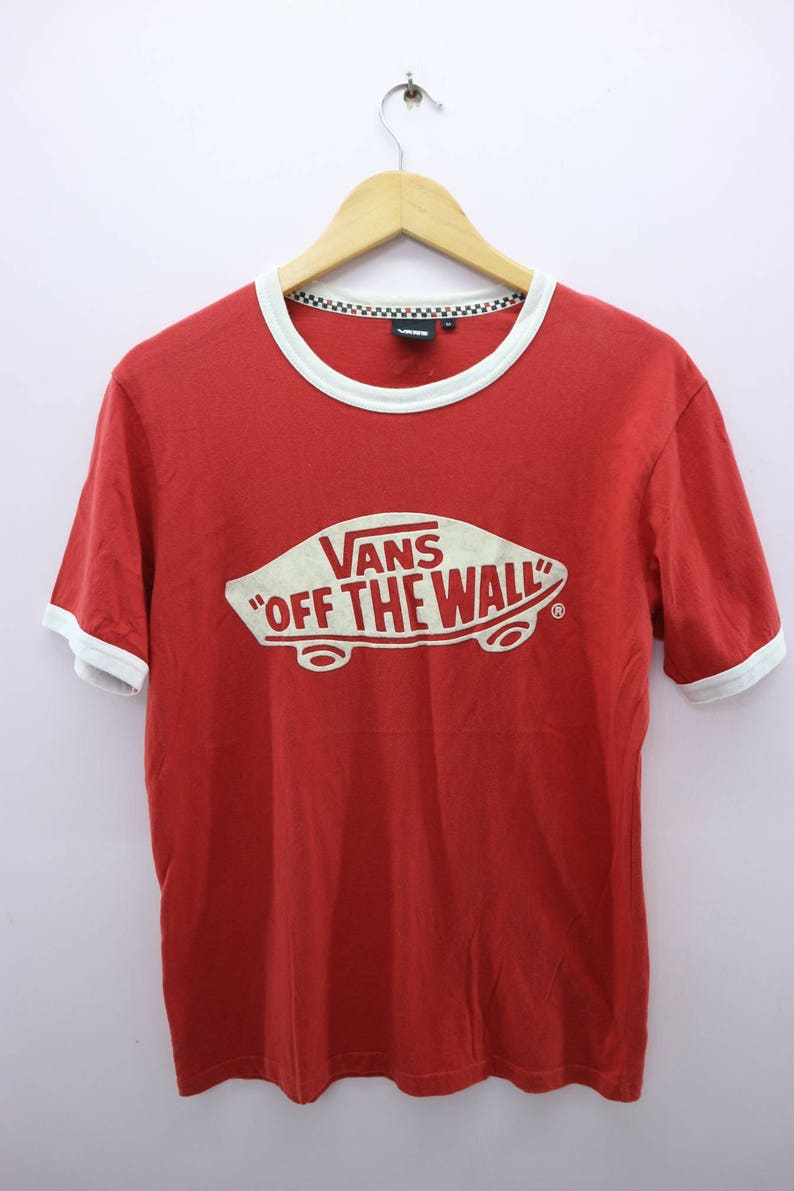7b1e3a0492f Vintage Vans Of The Wall Ringer Shirt Big Spell Out Skateboard