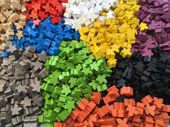 1 Each Games Accessories Meeples Wooden Meeples 16mm x 15 Different Colours