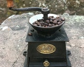 Antique T C. CLARK and Co Cast Iron Coffee Mill Made in England, UK