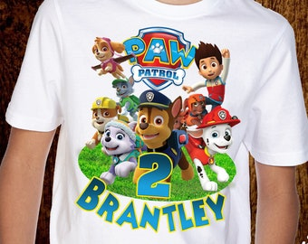 Paw Patrol Birthday Shirt Personalized Name And Age Customized Family Shirts D001