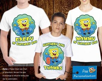 SpongeBob Shirts Family T Shirt Eugene H Krabs Patrick Star Squidward
