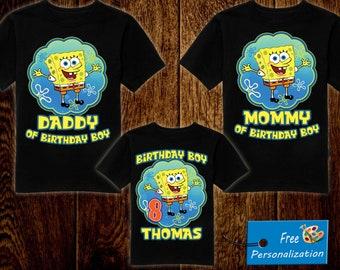 SpongeBob Birthday Shirt Sponge Bob Personalized Shirts For