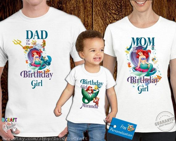Ariel The Little Mermaid Birthday Shirt Custom Personalized