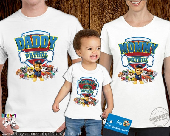 Paw Patrol Birthday Shirt Family Shirts