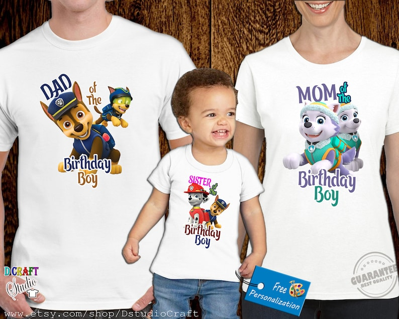 Paw Patrol Birthday Boy Shirt Custom