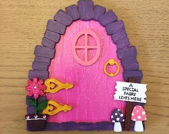 Wooden hand painted special fairy door