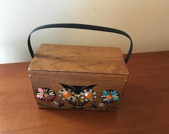 "Vintage Enid Collins  Box Bag- ""Wise Owl"""