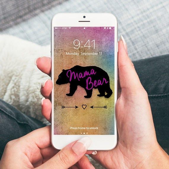 Mama Bear Grunge Colorful Background Iphone Wallpaper Cell Phone Background Iphone Lock Screen Cell Phone Wallpaper Phone Background