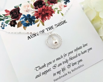 Aunt Wedding from Bride Thank you Floral Ceramic Round Decoration Ornament Wedding Keepsake-D-TFAU Personalized Aunt Gift Gift for Aunt