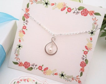 SILVER INIFINITY NECKLACE Mother of Bride Gift Mother In Law Gift from Groom Thank you for Raising the Woman of my Dreams Pearl Necklace