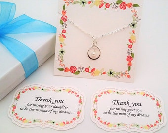THANK You for Raising the MAN of My DREAMS Necklace Mother of The Groom Gift from Bride Mother In Law Gift Infinity Necklace Mother of Groom