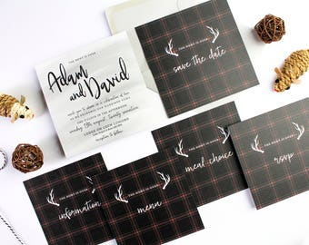 Sample Pack   Scottish Fold Collection Wedding Stationery Invitation