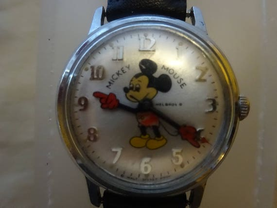 Mickey Mouse Watch Value >> Vintage Helbros Mickey Mouse Watch Vintage Mickey Mouse Watch Mickey Mouse Helbros Watch Walt Disney