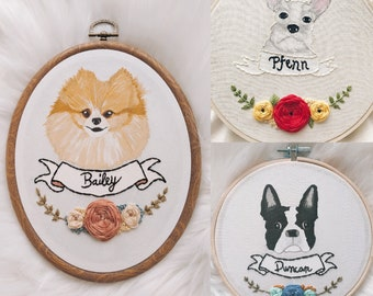 handcrafted embroidery art custom designs by wildloomdesigns