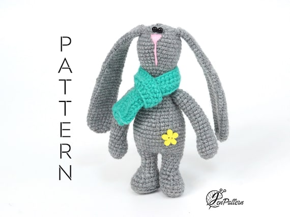 PDF Pattern Crochet Toy Cute Bunny Long Ears Amigurumi Pattern ... | 428x570