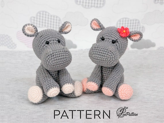 Amigurumi Soft Hippo Free Pattern | 428x570