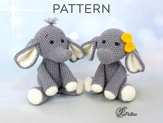 Crochet Elephant Amigurumi Easy Video Instructions | 428x570