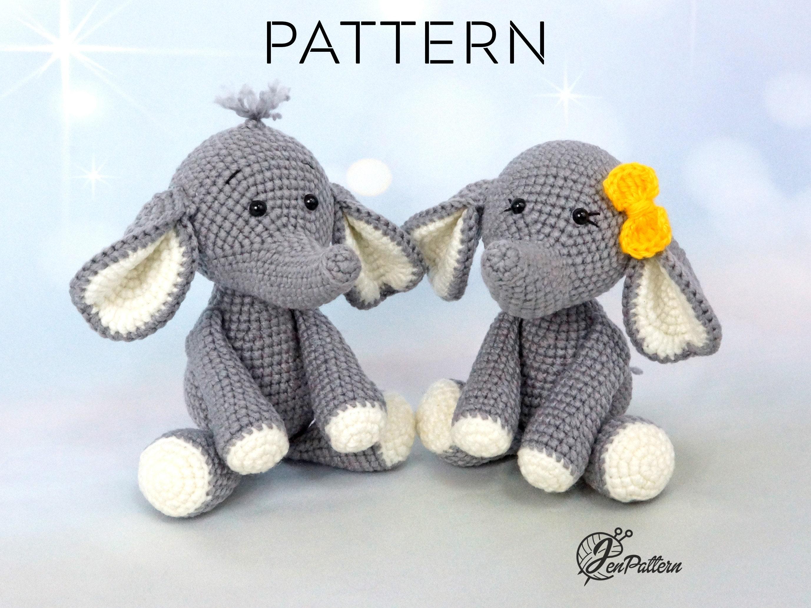 Pink crochet elephant pattern | Crochet elephant pattern, Crochet ... | 2067x2755