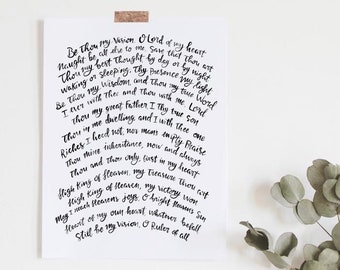 Be thou my vision | Etsy