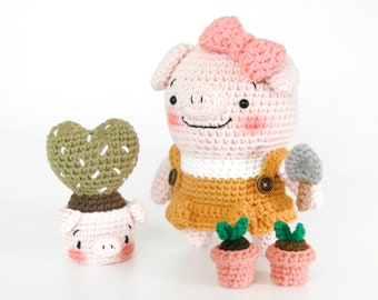 crochet pattern-Pigcouple+PigfacePot(PDF/ENG/KOR)