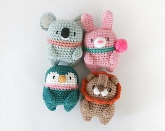 crochet pattern-Tinymals-/Koala/Bunny/Penguin/Lion(PDF/ENG/KOR)
