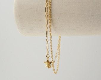 Double Chain Star Charm Bracelet