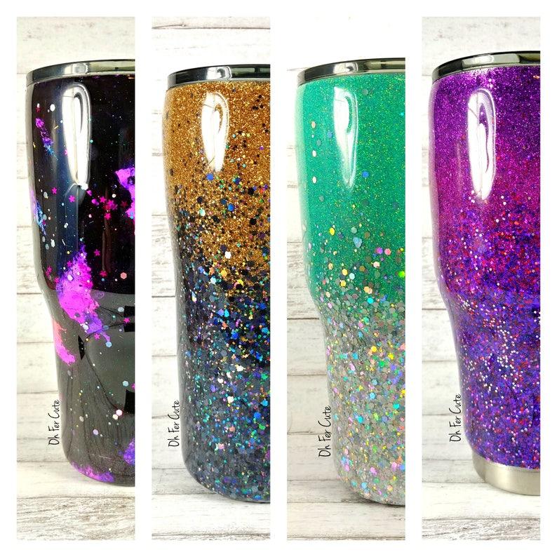 Custom Glitter Tumbler // Glitter Yeti // Personalized Ombre image 0