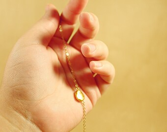 The Gold Seed Necklace - jewelry, nugget, minimal, dainty, simple, abstract, natural, gold, handmade, limited edition