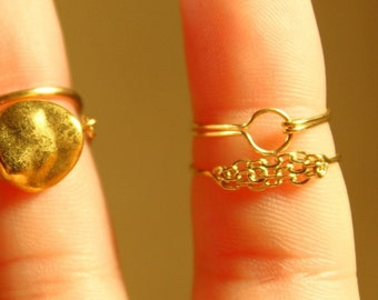 The Circle Band - jewelry, minimal, circle, dainty, simple, abstract, natural, gold, handmade, limited edition, wire