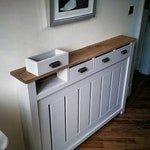 Radiator cover cabinet BESPOKE with working draws