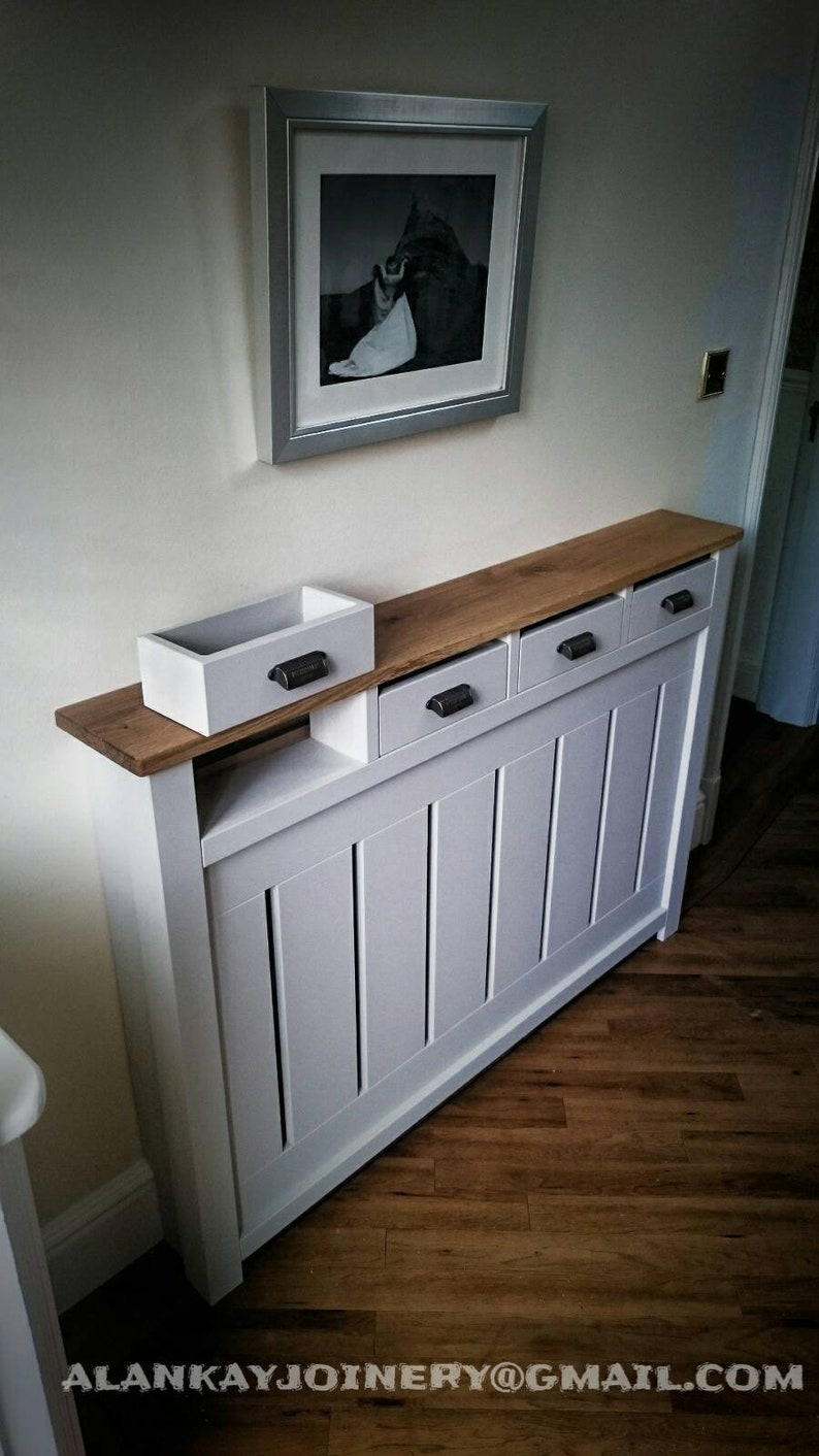 Radiator cover cabinet BESPOKE with working draws image 0
