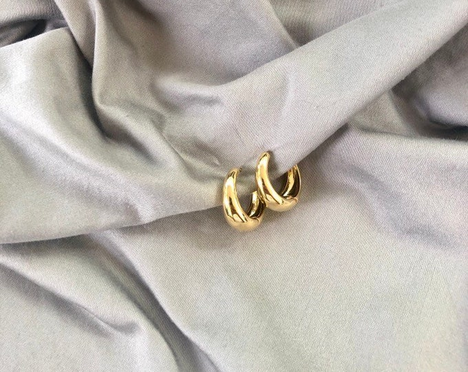 16k Gold Chunky Hoops