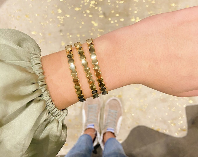 Gold Bubble Cuff Bracelet