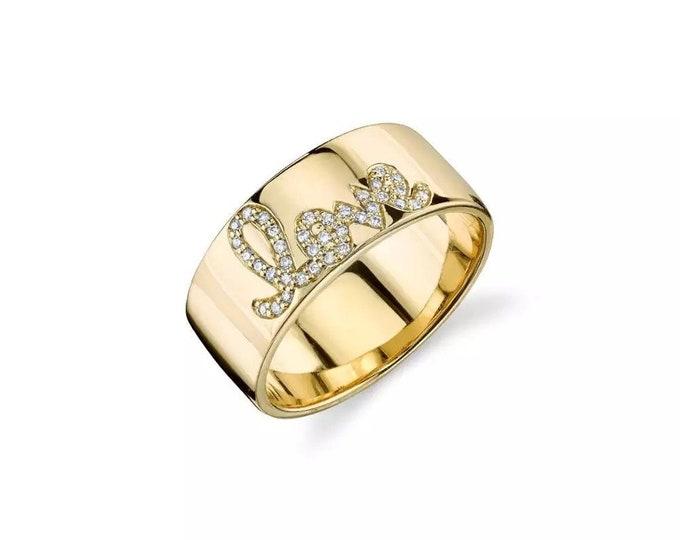 Pavé Love Ring