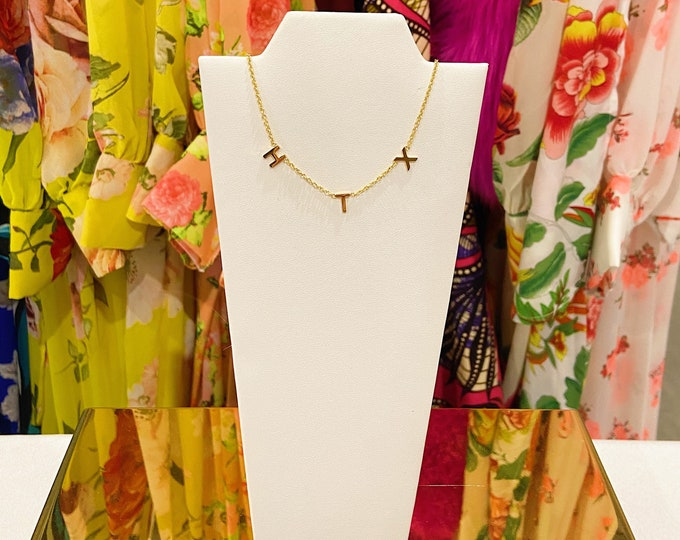 Dainty Word HTX Necklace