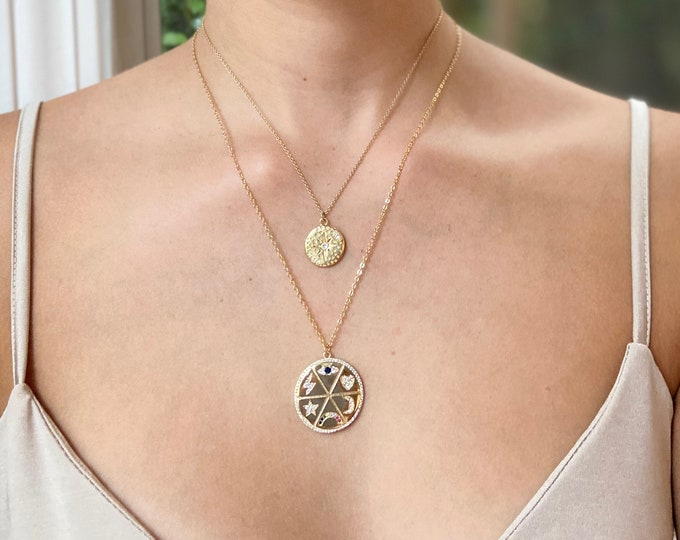 Lucky Medallion Coin Necklace
