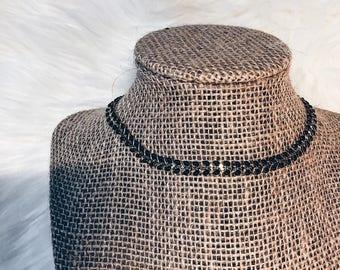 Black + Gold Chevron Necklace