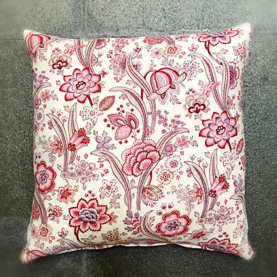 RESERVED French fabric pillow, 1800s