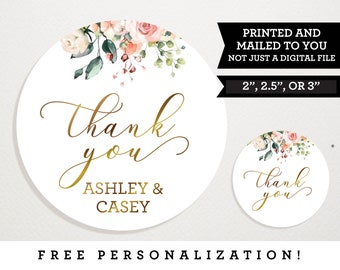 Thank You Labels Butterfly Wedding Stickers for Favors Personalized and Custom