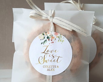Custom Candy Labels Candy Bag Stickers Personalized Wedding Favor Labels Bag Toppers CL162 Thank You Labels Wedding Party Sticker