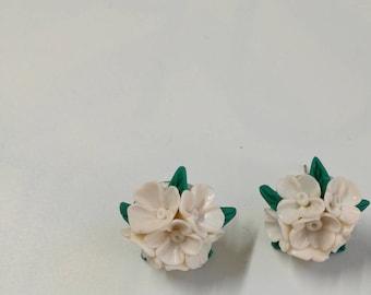 White lilac earrings